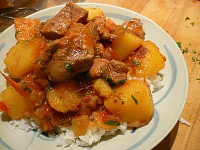 Somali lamb stew