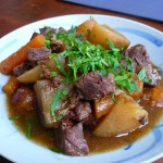 Beef bourguigon - the final result!