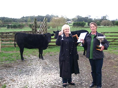 Yvonne Hill and Kathy Child - supreme winners of the Steak of Origin 2010 competition