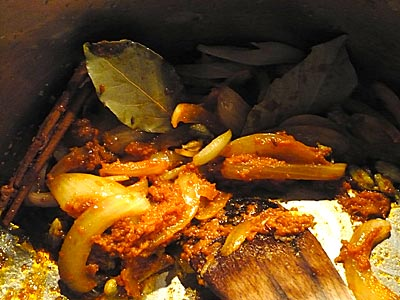 A beautiful concoction of herbs and spices; cinnamon, bay leaves, cardamom...