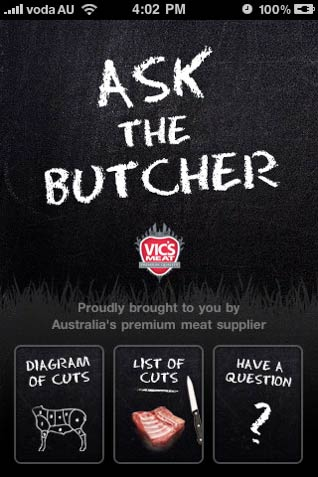 Ask the Butcher iPhone App
