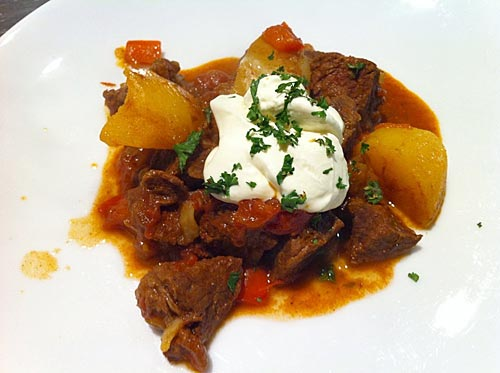 Hungarian goulash – an adaption