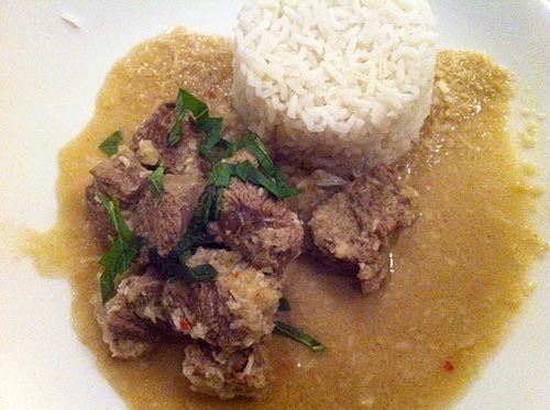 Malaysian lamb curry