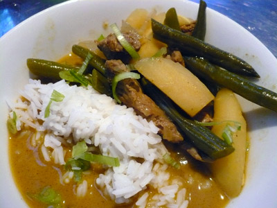 Spiced lamb curry