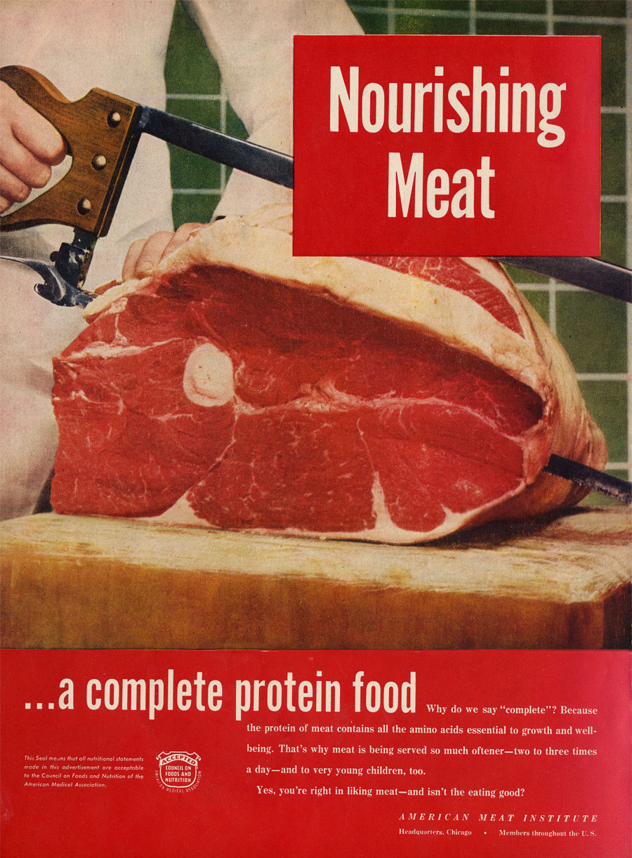 Meat advertising from the 1950's and 1960's